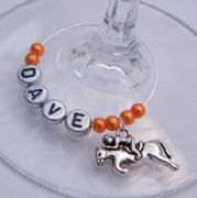 Horse Racing Personalised Wine Glass Charm